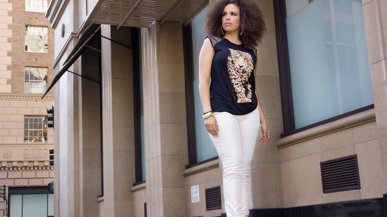 58643dddf802 Chloe Coated Giraffe Animal Print Skinny Lowrise Jeans - YouTube