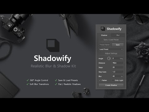 Shadowify - Realistic Blur & Shadow Kit (Photoshop CC 2015+)
