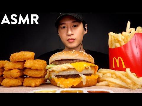 ASMR BIG MAC & CHICKEN NUGGETS MUKBANG (No Talking) EATING SOUNDS | Zach Choi ASMR