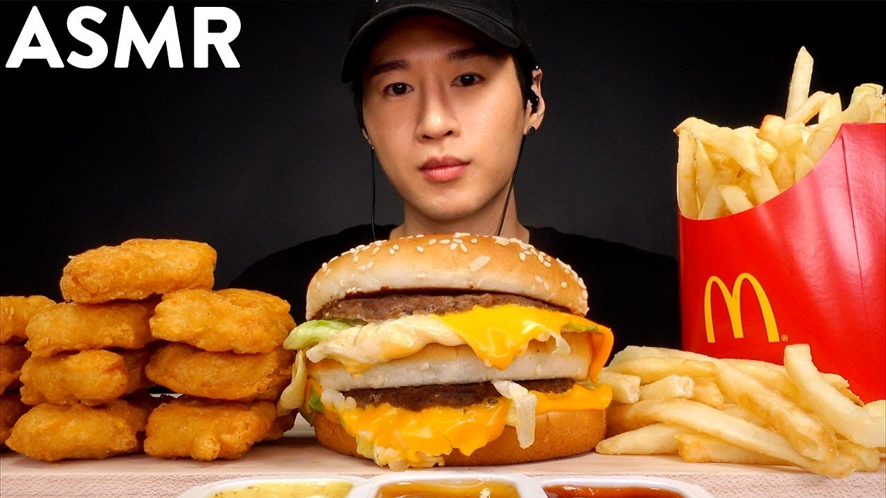 Asmr Big Mac Chicken Nuggets Mukbang No Talking Eating Sounds Zach Choi Asmr