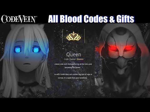 Code Vein - All Blood Codes & Gifts Guide