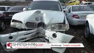 Երևանում բախվել են Վազ 2110 ը և BMW X5 ը  վերջինն էլ բախվել է էլեկտրասյանը