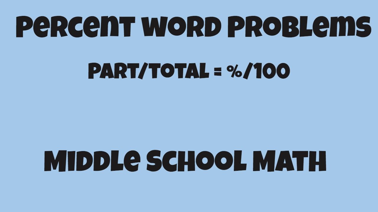 Percent word problems 6th Grade Math - YouTube