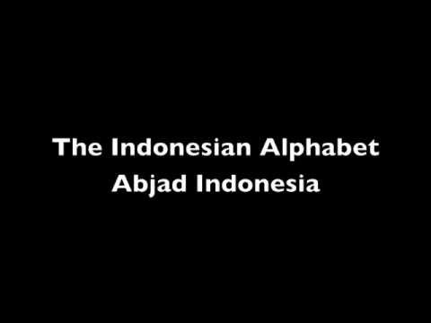 Indonesian Alphabet Letters