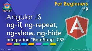 angularjs ng if ng repeat ng show ng hide and bootstrap css framework integration