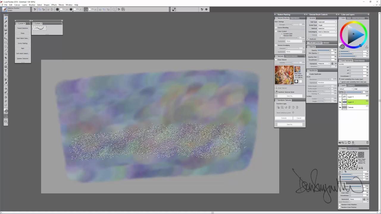 Corel Painter 2018 Digital Art Software New Selection Brushes Youtube