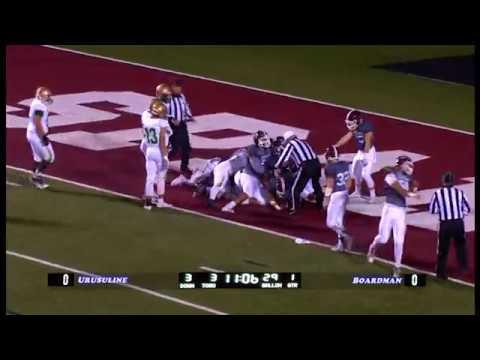 High School Football:  Ursuline vs. Boardman October 14, 2016