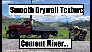 Drywall - Smooth Texture Bedrooms And Hallway - Cement Mixer