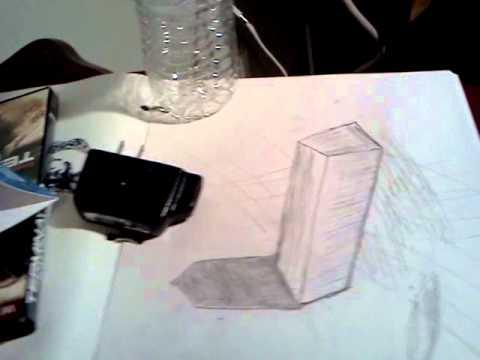 Dibujo 3d A lápiz En perspectiva - YouTube