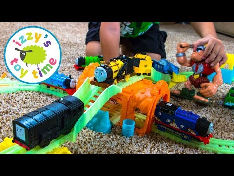 Thomas And Friends | Thomas Train Glowing Mine Playset With Trackmaster | Fun Toy Trains