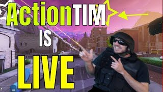 150+ Wins!! Action Tim | PSN/Xbox code GIVEAWAY/GOAL @ 1k Subs! | Fortnite GAMEPLAY PS4