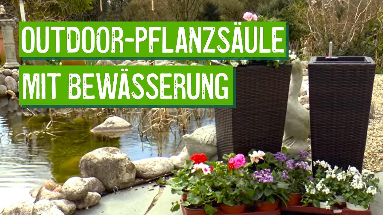 Beige 01 30L Eshow Rattan Blumentopf Pflanztopf Vase Bodenvase Blumenschmuck Home Decor rund mit Einsatz ca