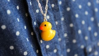 Diy: Rubber Duck Necklace Polymer Clay Tutorial
