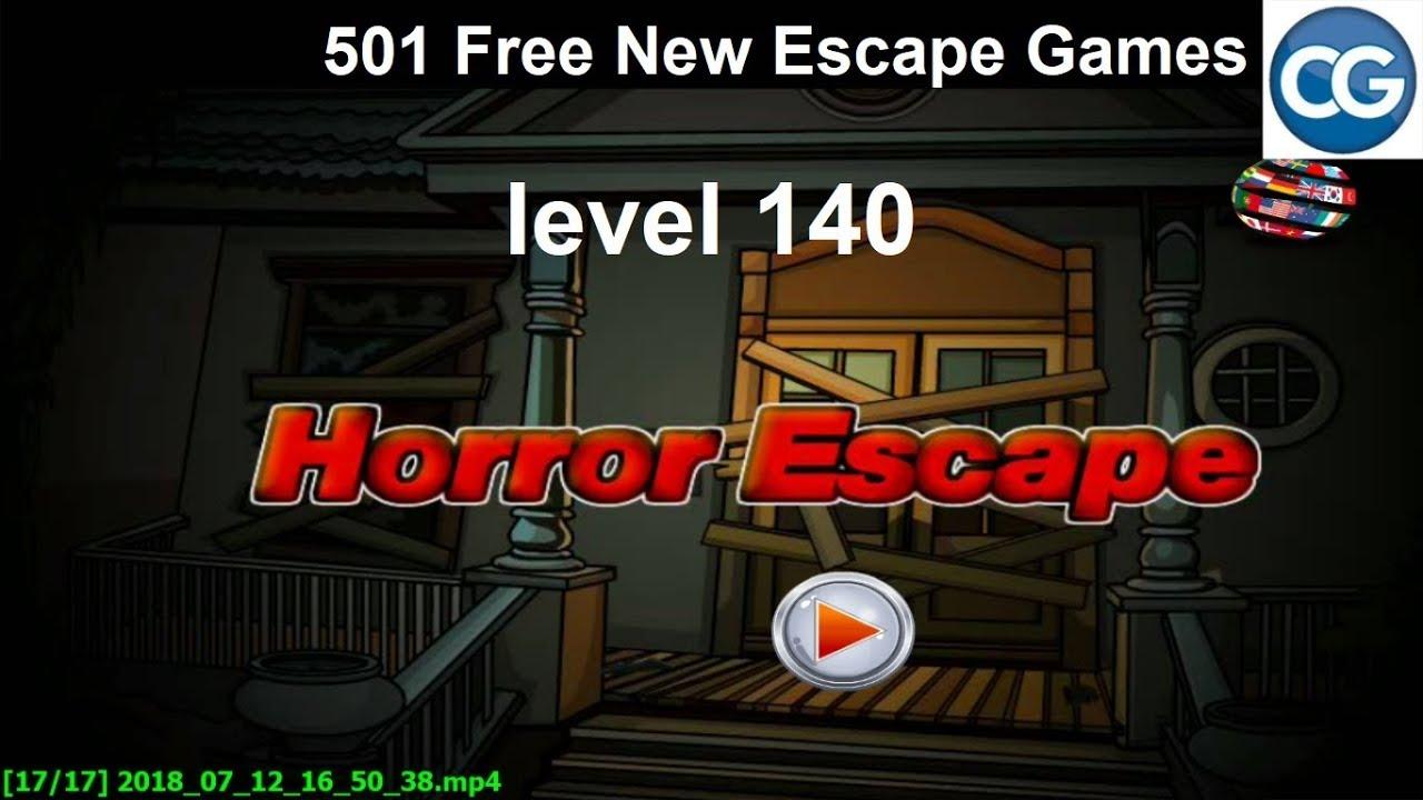 Walkthrough 501 Free New Escape Games Level 140 Horror