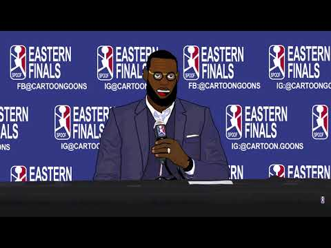 Hilarious! Cartoon Lebron gets Heated during Boston Post Game Interview