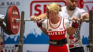 57kg級パワーリフティング世界チャンピオン、ロシアのインナ・フィリモ...