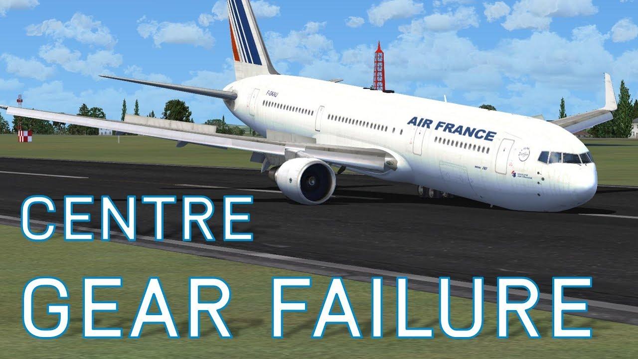 FSX Centre Landing Gear Failure | Boeing 767