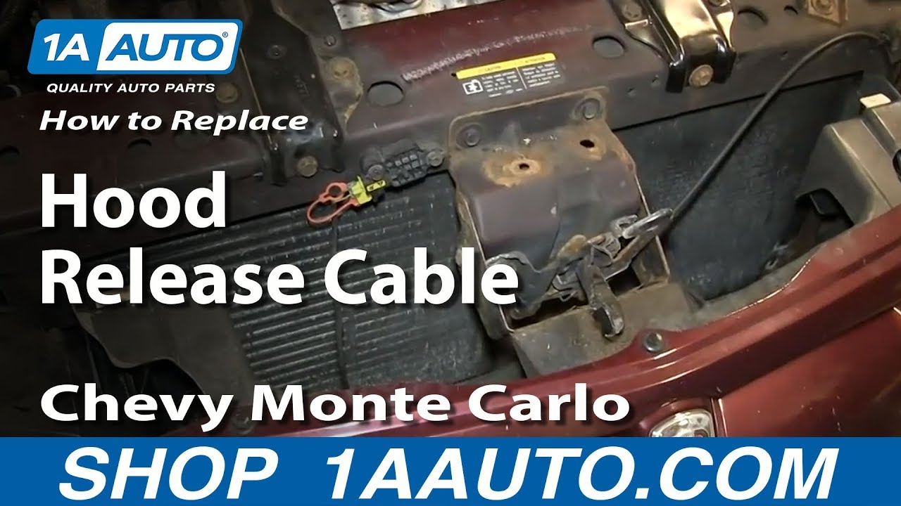 How to install replace broken hood release cable 2000 07 chevy monte carlo youtube