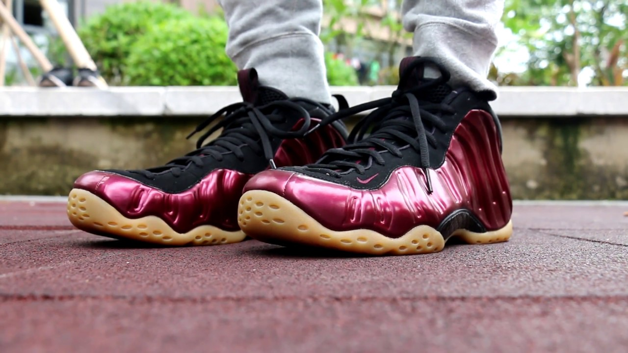 19f9fe70ead73 Nike Air Foamposite One Maroonon feet HD Review From Trade666a.cn ...