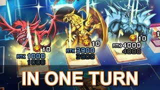 [Yu-Gi-Oh! Duel Links] Summoning 3 Egyptian Gods in one turn screenshot 1