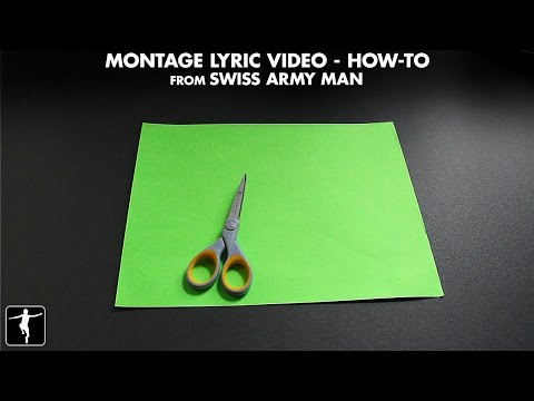 The Making of the 'Montage' Lyric Video For Swiss Army Man Soundtrack | Lakeshore Records