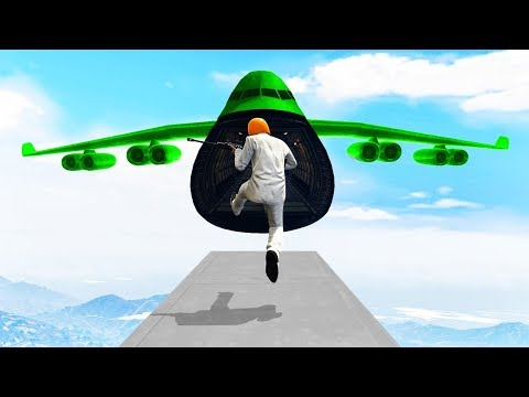 TRY TO JUMP INTO A CARGO PLANE! (Gta 5 Funny Moments)