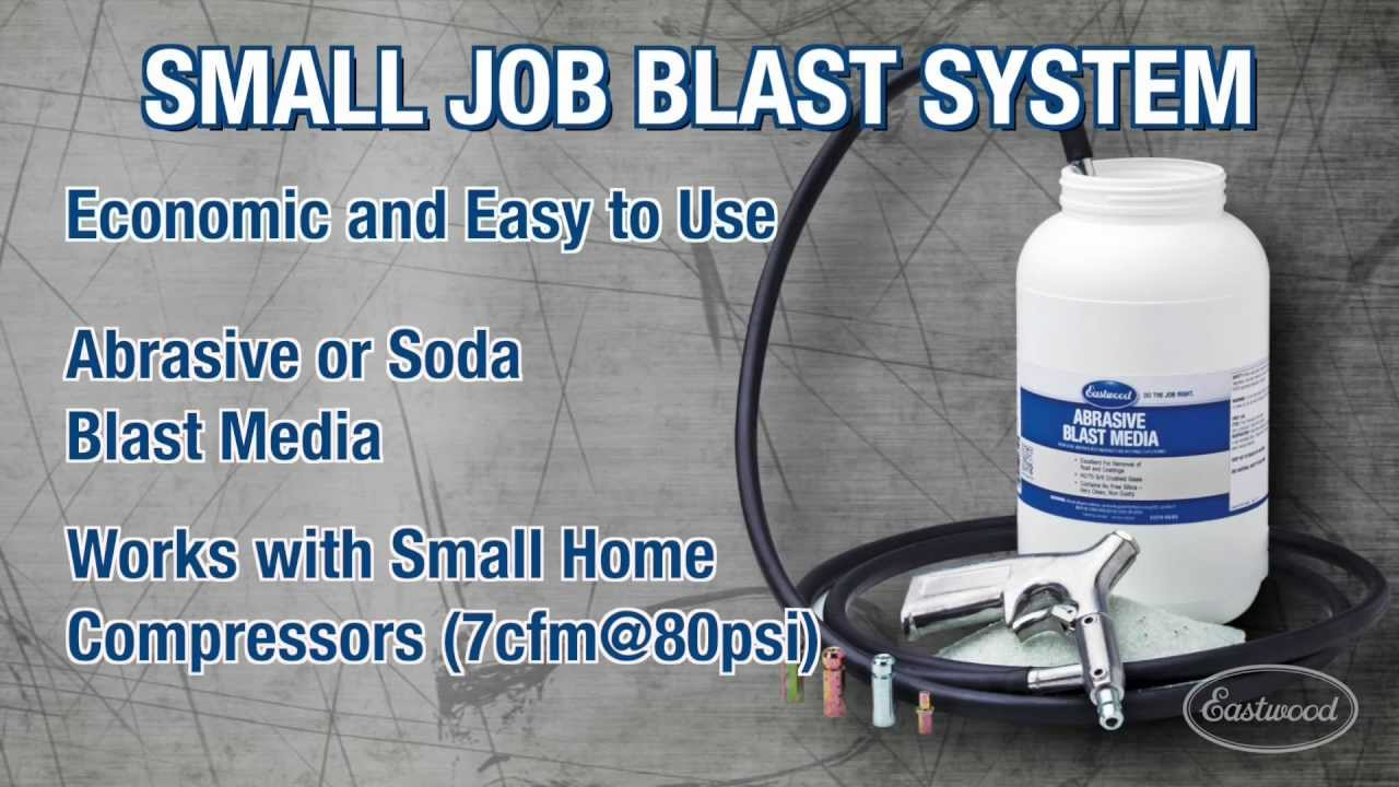 Soda Blasting Media >> Media Blasting Small Job Blast System Video From Eastwood Youtube