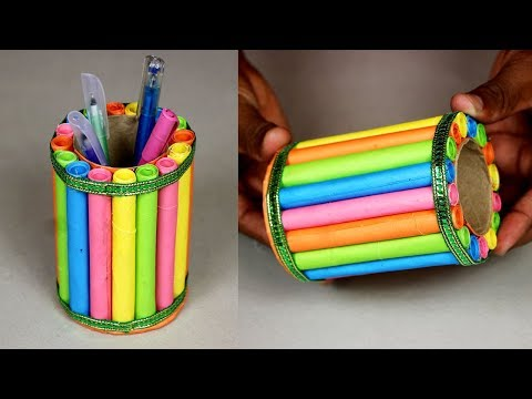 DIY Paper Pen Stand ॥ Paper Pen Holder ॥ How to Make Easy Pen Stand