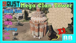Rust Mega Clan Tower Base Build