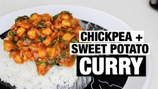 EASY VEGAN CHICKPEA + SWEET POTATO CURRY | shane&mel