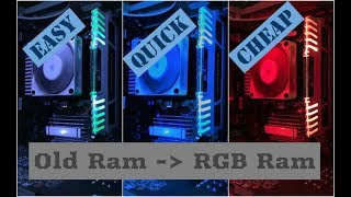 How To : Make Your Own RGB RAM At Home (Cheap & Easy) | Remote Controlled | Easy | Quick