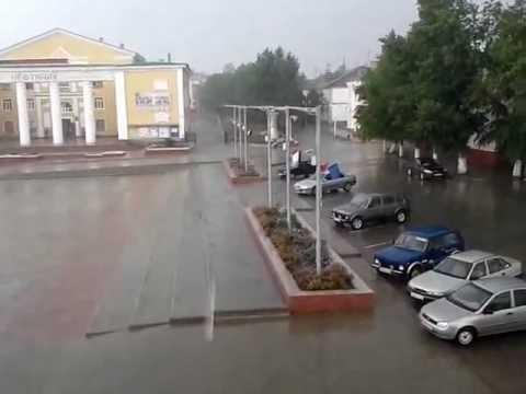 Дождь в Жирновске 06.07.2012