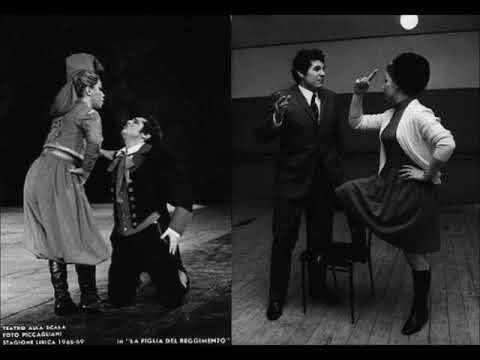 Donizetti - Da quell'istante (La figlia del reggimento) - Duetto Benelli Freni, live 1969