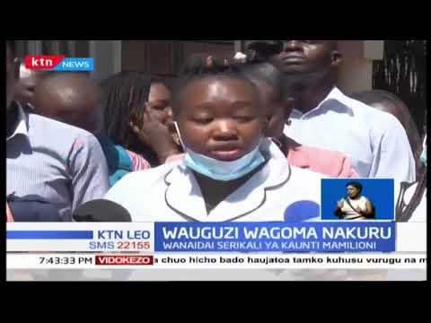 Wahudumu wa afya katika kaunti ya Nakuru wafanya maandamano