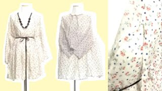 [DIY Dress] 패턴 없이 시원한 원피스 만들기 …