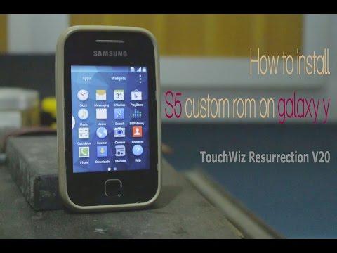 How to install S5 custom rom on galaxy y (TouchWiz Resurrection V20) 100% working