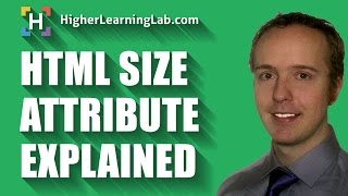 HTML Size Attribute Is Used To Define The Size Of Certain HTML Elements