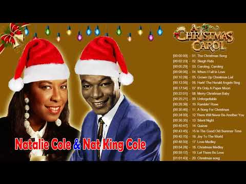 Natalie Cole & Nat King Cole - The Christmas Songs  Christmas Carols Full Album