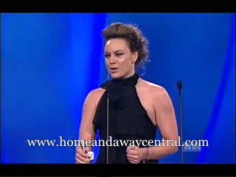 Amy Mathews wins Most Popular Female Talent at Logies 2007