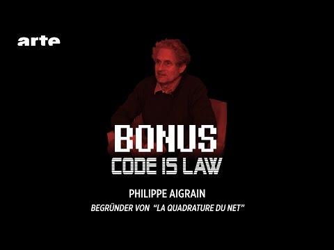 "Philippe Aigrain #Begründer von ""La quadrature du Net"" - Code is Law - BiTS - S02E31 - ARTE"