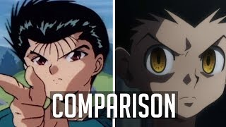 Hunter X Hunter and Yu Yu Hakusho Comparison Part 1: The Main Cast [60FPS]