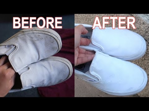 HOW I CLEAN MY DIRTY WHITE VANS
