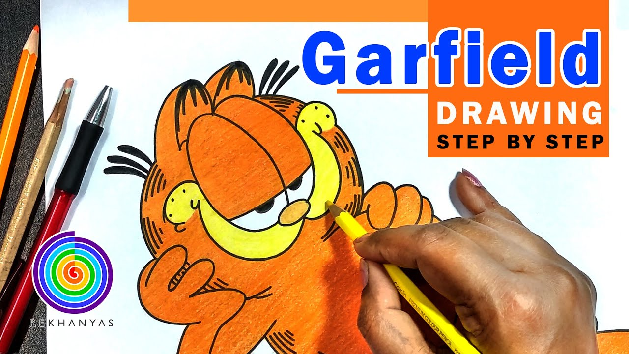 Drawing Cartoon Characters Draw Garfield Step By Step Youtube