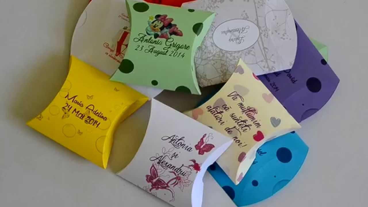 Cutiute Pillow Marturii Nunta Botez Youtube