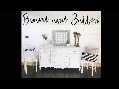 DIY Board and Batten Wainscoting Budget Friendly Accent Wall