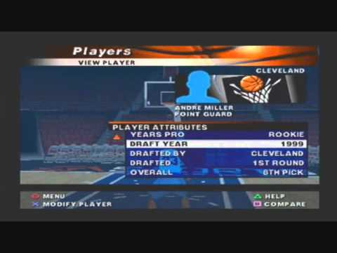 NBA Live 2000 The 13 Best Players of the 1999 NBA Draft Class