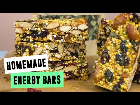 Homemade Energy Bars | SO VEGAN