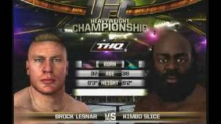brock lesnar vs kimbo UFC 2010 Undisputed