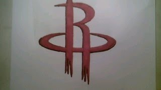 How To Draw Houston Rockets Logo Sign NBA Playoffs Easy Step By Tutorial