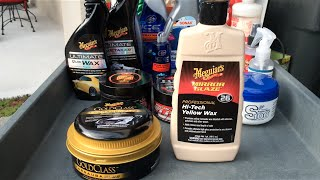 meguiar's Gold Class Paste Wax & Hi-Tech Yellow Wax M26 - Review & Water Test